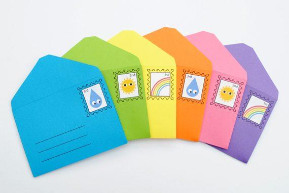 manualidad infantil sobre y carta todo en uno