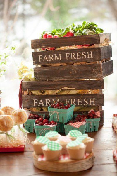 cajas verduras fiesta granja