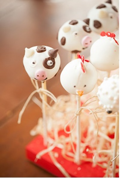cake pops de vaca