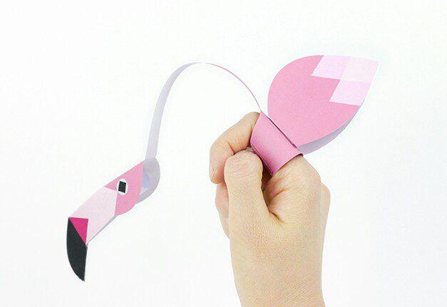 flamenco dedos papel manualidades