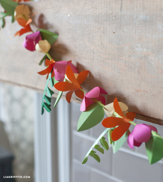 guirnalda de flores para decorar