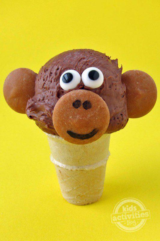 helados para el verano cono de mono