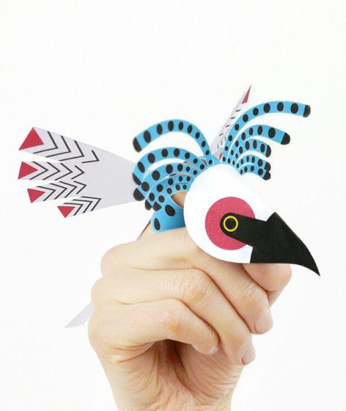 Divertidos animales de papel para los dedos