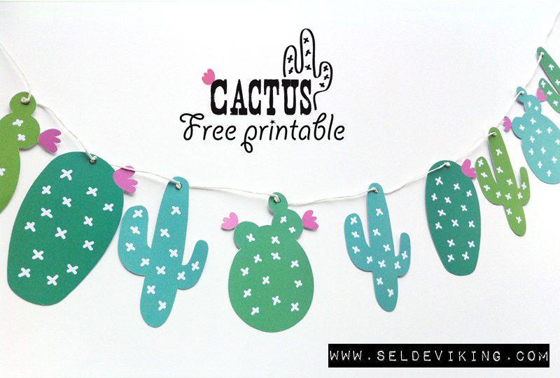 decoracion guirnalda cactus