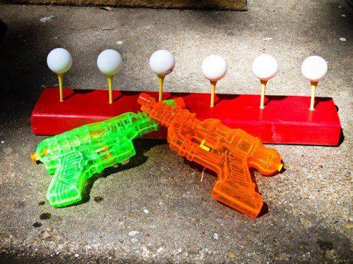 verano actividades pistolas agua