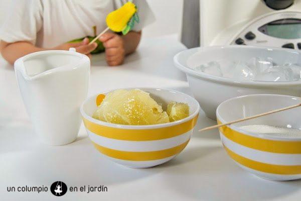 bebida fresca para el verano: granizado de limón