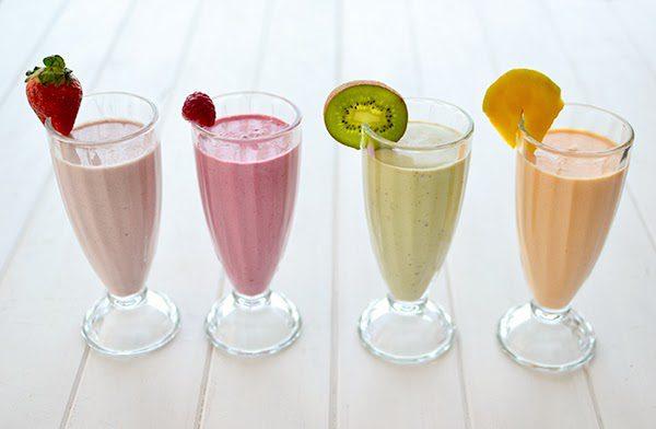 4 Batidos de Frutas para niños