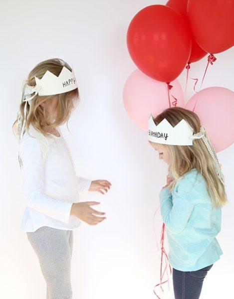 como hacer corona cumple infantil