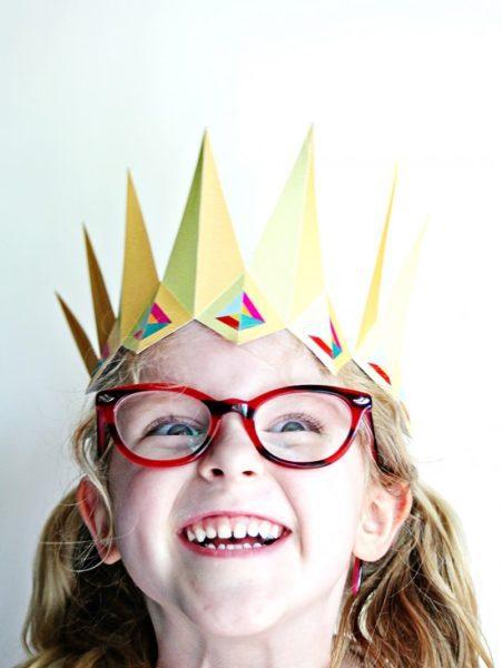 corona papel fiesta cumple sencilla