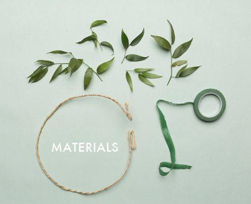 materiales para hacer una corona de flores en casa