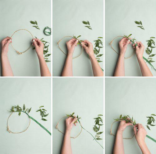 como hacer una corona de flores en casa