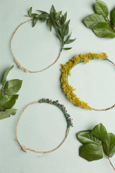 Una corona de flores que puedes hacer tú misma