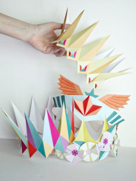 coronas papel fiesta cumple