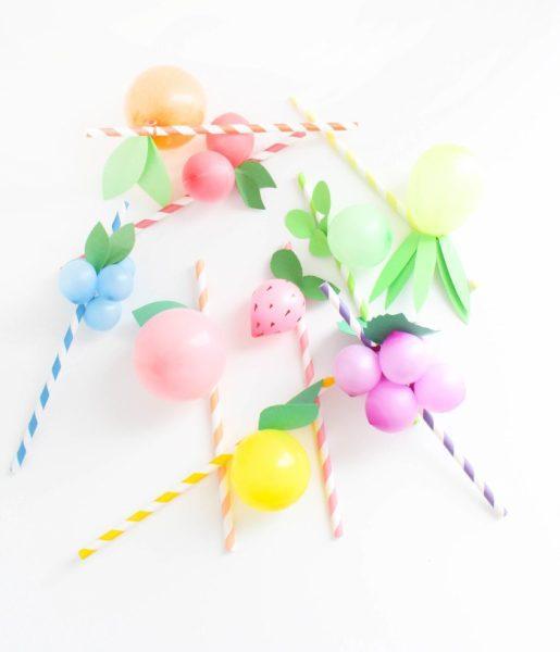 frutas decorativas para pajitas