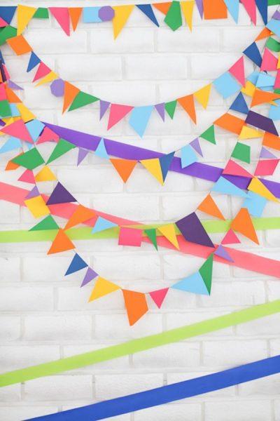 decorar fiesta para niños con banderolas