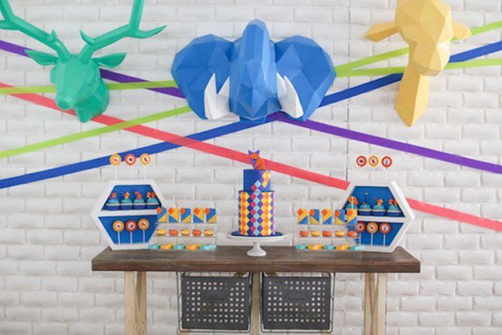 decorar una mesa dulce en fiesta de animales para niños