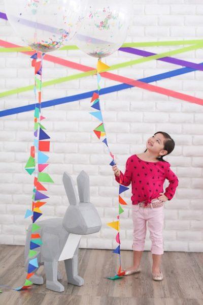 fiesta decorar animales niños