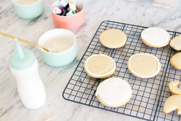 como hacer galletas caseras de flamencos y piñas