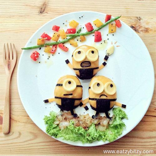 minion en la comida