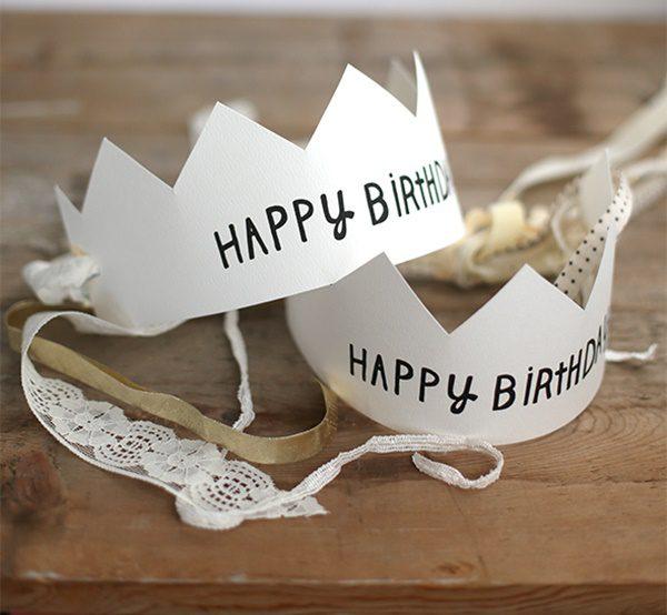 imprimible de corona de cumpleaños