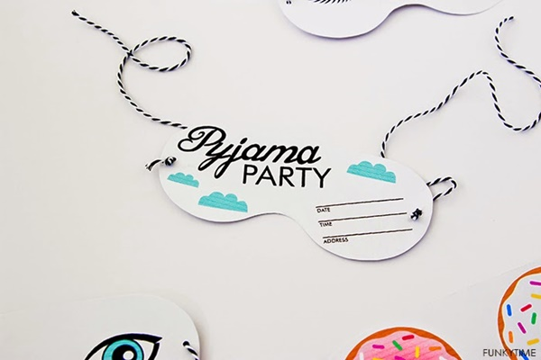 invitaciones ideas para fiesta pijama