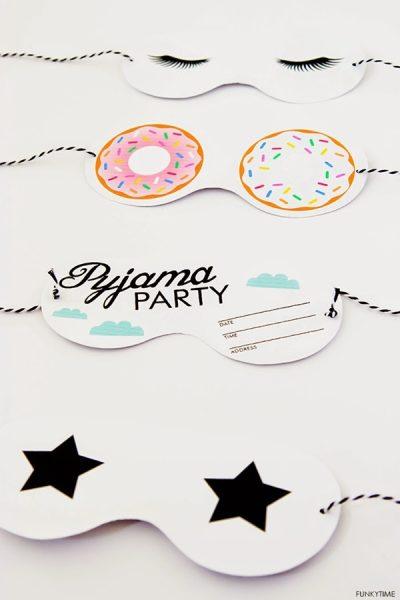 invitaciones para fiesta pijama