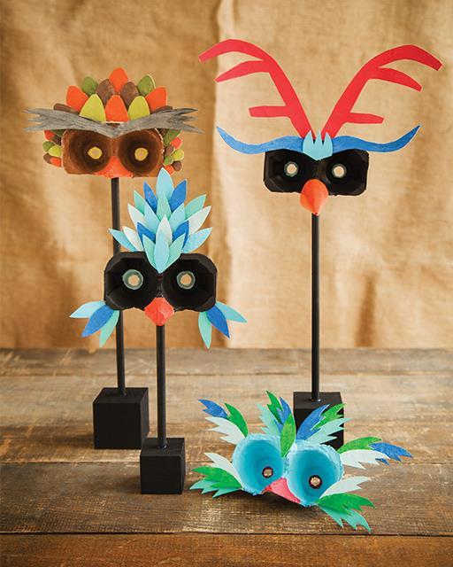 Mascaras Con El Carton De Los Huevos Para Los Peques Fiestas Y Cumples