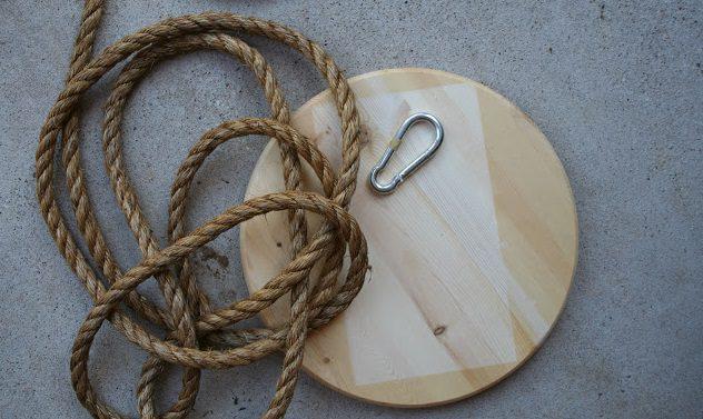 materiales para hacer un columpio casero