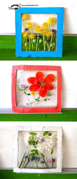 Un panel de flores para estas vacaciones