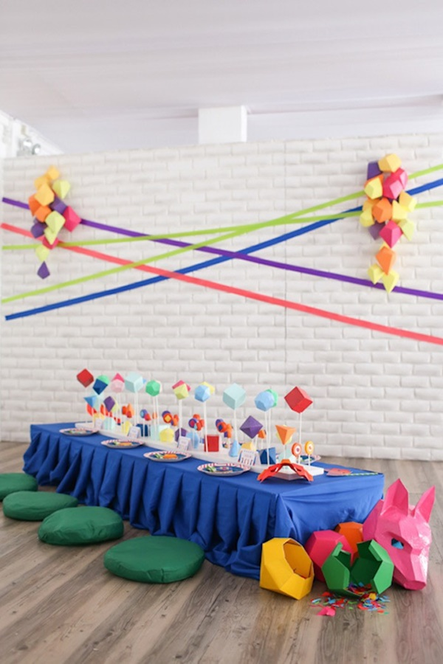 mesa dulce para fiesta de animales