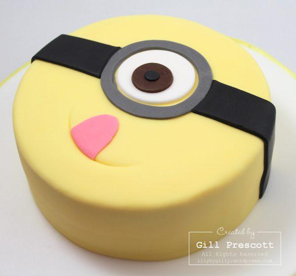 tarta minion redonda fiesta
