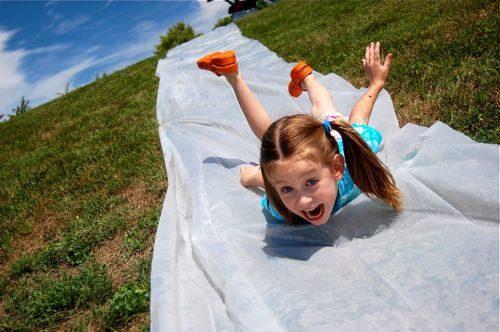 tobogan agua casero verano actividades