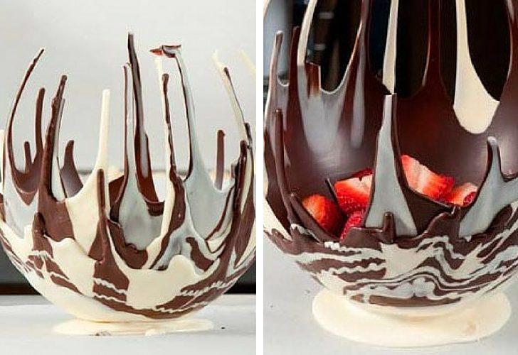 Bol de chocolate casero