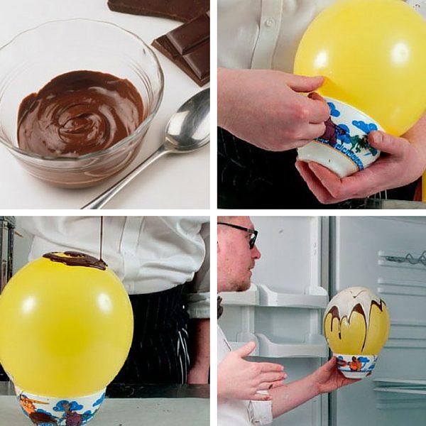 Como hacer un bol de chocolate en casa