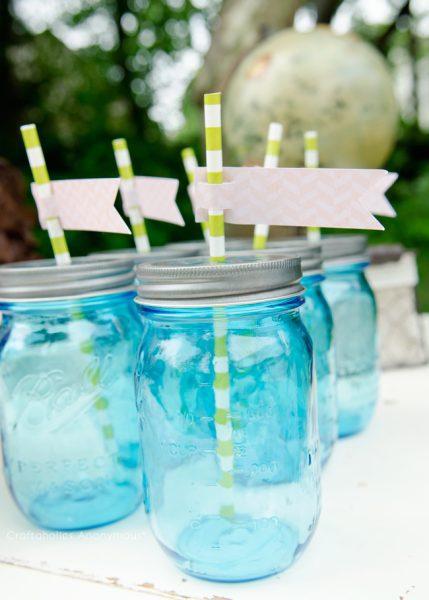 bebidas vintage azul