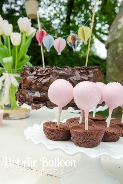 cake pops de globos