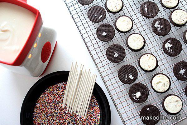como hacer galletas Oreo