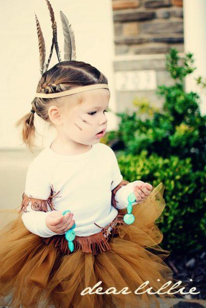 disfraz de india para niña