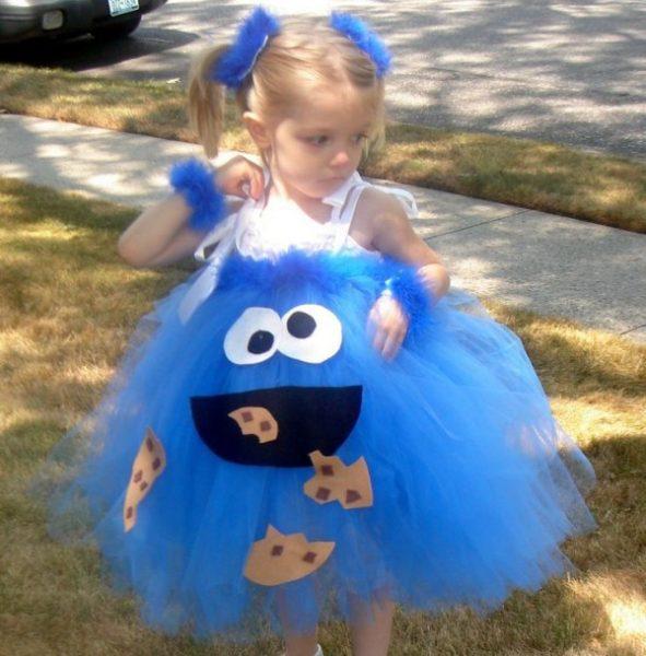 disfraz de monstruo de las galletas para niñas