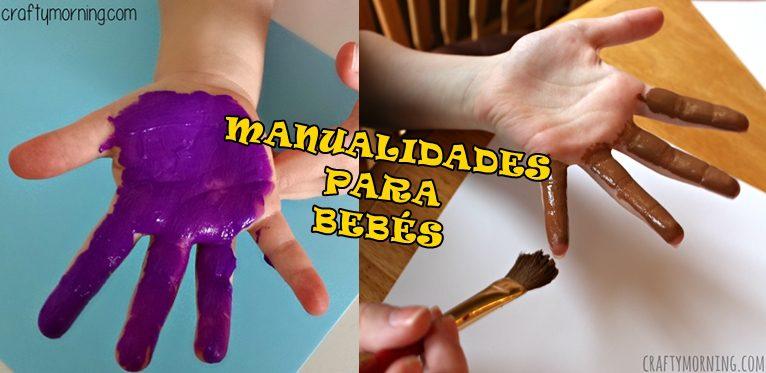 5 manualidades para bebés con pintura para dedos