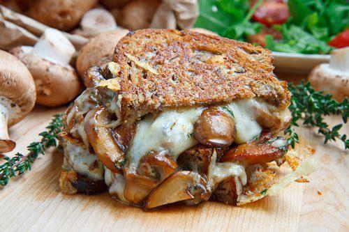 10 sandwiches para niños poco tipico champiñones con queso