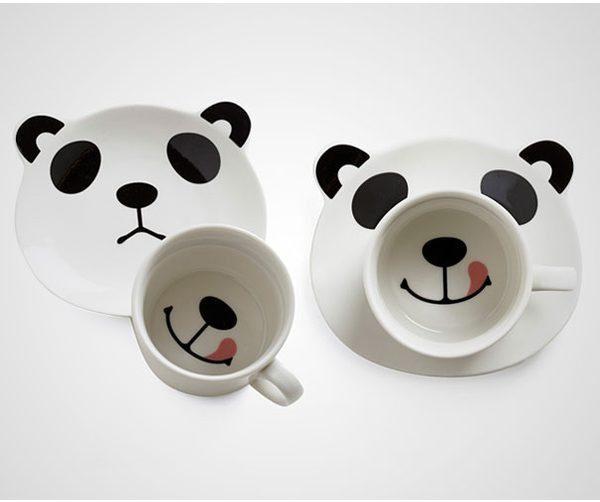 15 tazas geniales de diseño panda feliz