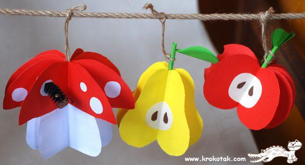 Guirnaldas con frutas de todos los colores para fiestas infantiles