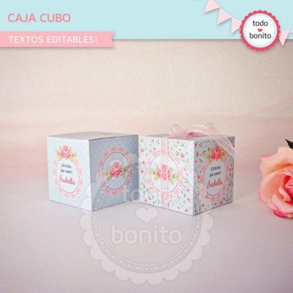caja regalo perfume shabby chic