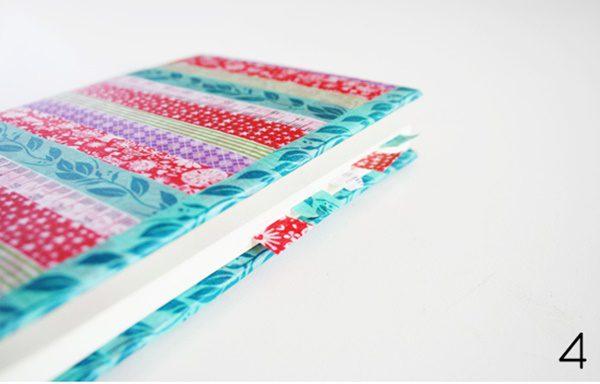 como decorar una libreta en casa con washi tape