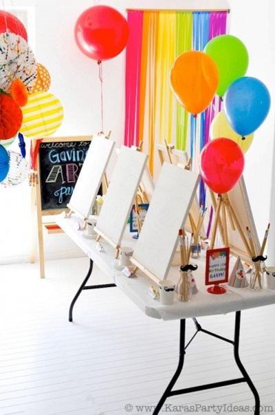 decorar fiesta colorida para niños