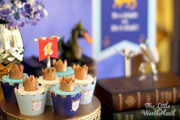 dulces en un cumpleaños medieval