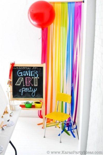 fiesta colorida para niños