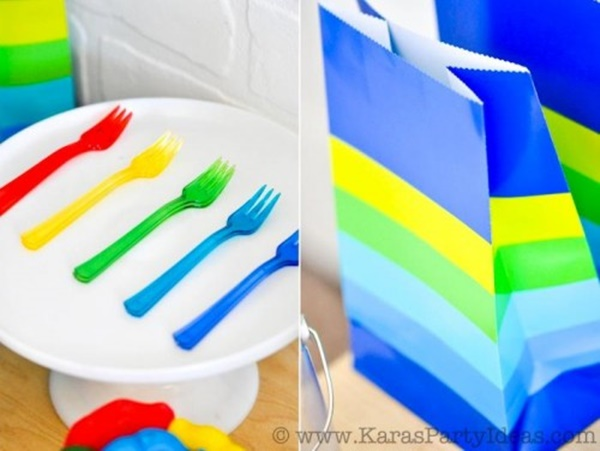 fiesta de colores para niños