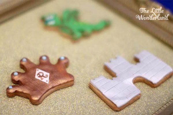 galletas en un cumpleaños medieval